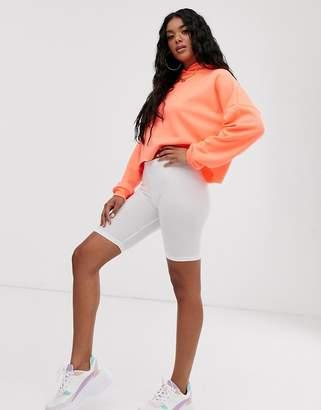 Asos Design DESIGN legging short-White
