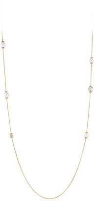 David Yurman Solari Long Station Necklace with Pearls & Diamonds in 18K Yellow Gold