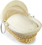 BabyCentre Clair de Lune Starburst Natural Wicker Moses Basket (Cream)