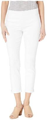 NYDJ Petite Petite Pull-On Skinny Ankle Slits in Optic White (Optic White) Women's Jeans