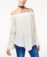 American Rag Off-The-Shoulder Lace-Trim Peasant Top, Only at Macy's