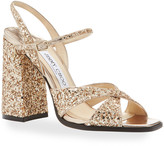 Jimmy Choo Joya Glitter Strappy Sandals