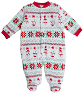 Baby Gear Ivory & Red Fair Isle Holiday Footie - Infant