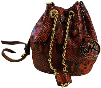 Michael Kors Jules Red Water snake Handbags