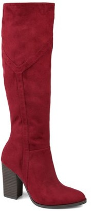 Brinley Co. Womens Extra Wide Calf Detailed Knee High Boot