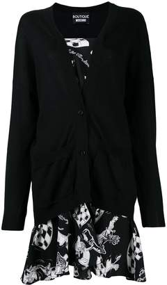 Moschino cardigan short dress
