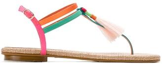 Sarah Chofakian tassel flat sandals