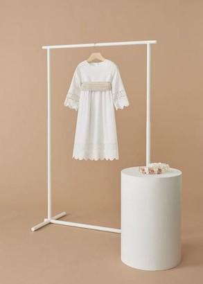 MANGO Embroidered detail dress white - 8 - Kids