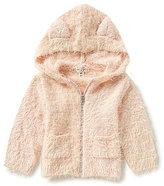 Jessica Simpson Baby Girls Newborn-9 Months Eyelash Sparkle-Knit Hoodie