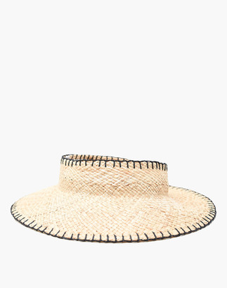 Madewell WYETH Whip-Stitch Straw Stella Halo Visor
