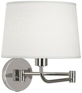 Rob-ert Koleman 1-Light Swing Arm Lamp Robert Abbey Finish: Polished Nickel