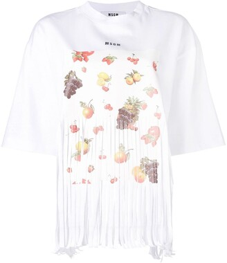 MSGM fruit print T-shirt