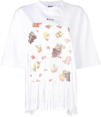 MSGM fruit print T-shirt