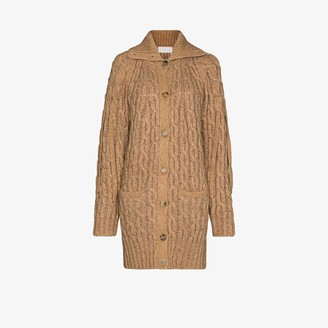 Chloé Chunky Oversized Cable Knit Cardigan