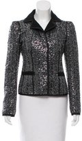 Philosophy di Alberta Ferretti Sequined Wool-Blend Blazer