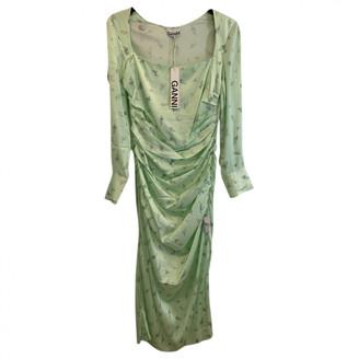 Ganni Spring Summer 2020 Green Silk Dresses