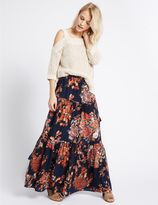 Marks and Spencer Floral Print Straight Maxi Skirt
