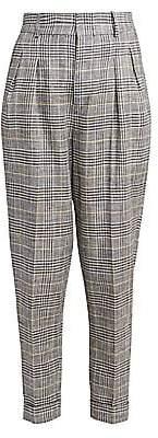 Isabel Marant Women's Ceyo Linen & Silk Check Pants