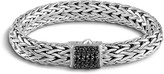 John Hardy Women's Classic Chain 10.5MM Bracelet in Sterling Silver with Black Sapphire