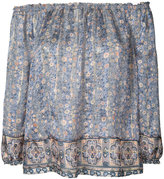 Joie floral off the shoulder blouse - women - Silk/metal - XS