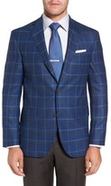 David Donahue Men's Connor Classic Fit Plaid Sport Coat