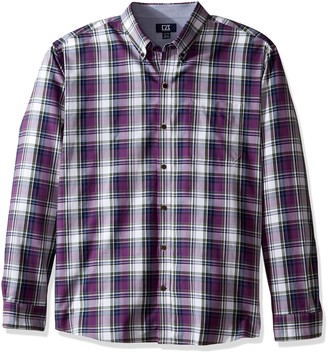 Cutter & Buck Men's Big and Tall Long Sleeve Meadow Plaid