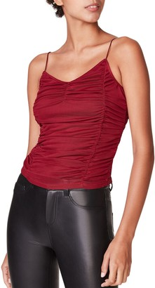 Steve Madden Ruched Tank Wine