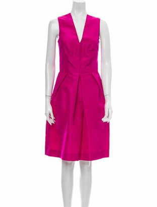 Oscar de la Renta 2010 Knee-Length Dress Pink