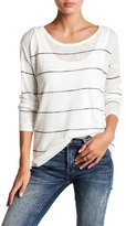 Lucky Brand Stripe Linen-Blend Pullover