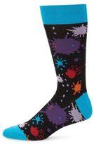 Bugatchi Splatter Print Socks