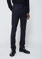 Lanvin Navy Blue Ribbon Pocket Straight Trousers