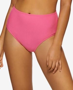 Hula Honey Juniors' Ribbed High-Waist Bottoms, Created for Macy's Women's Swimsuit