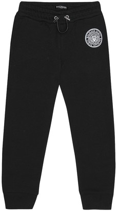 Balmain Kids Cotton jersey trackpants