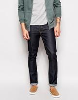 Nudie Jeans Grim Tim Slim Fit Jeans In Dark Navy Wash