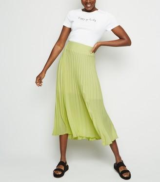 New Look Pleated Midi Skirt