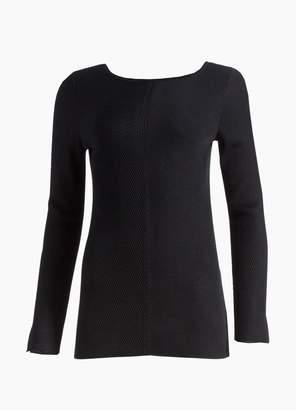 St. John Chevron Rib Knit Bateau Sweater