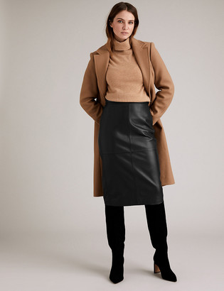 Marks and Spencer Leather Pencil Skirt