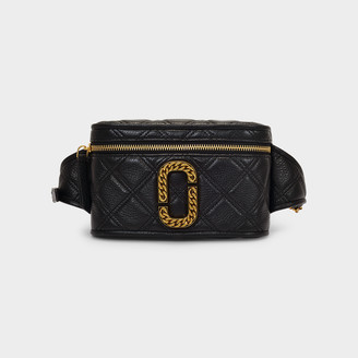 Marc Jacobs Claudia Belt Bag In Black Quilted Leather