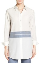 Nordstrom Women's Placed Stripe Tunic Shirt