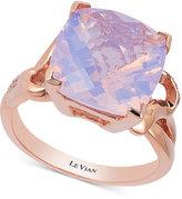 LeVian Le Vian Lavender Quartz (5-9/10 ct. t.w.) and Diamond (1/10 ct. t.w.) Ring in 14k Rose Gold