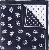 Alexander McQueen printed pocket square - men - Silk - One Size