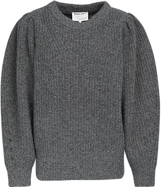 Designers Remix Silvia Wool Knit Sweater W/ Puff Sleeves