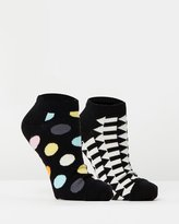 Happy Socks 2-Pack Big Dot & Direction Low Socks