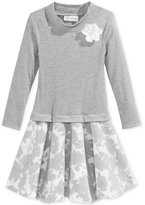 Bonnie Jean Little Girls' Mock-Neck Floral Dress