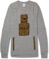 Nike - Nikelab Aae 1.0 Shell-trimmed Wool-blend Jersey Sweatshirt