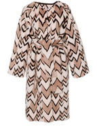 J. Mendel Reversible Chevron Mink Coat