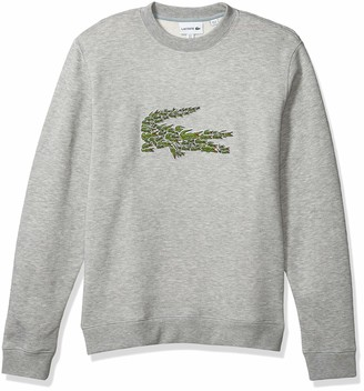Lacoste Mens Long Sleeve Brushed Molleton Winter Sweater Sweatshirt
