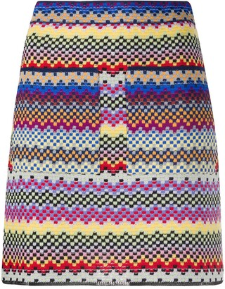 M Missoni Fitted Striped Skirt