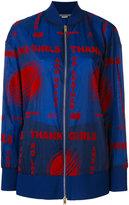 Stella McCartney embroidered bomber jacket - women - Polyamide - 40