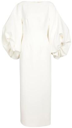 Roksanda Bridal Garance crApe midi dress